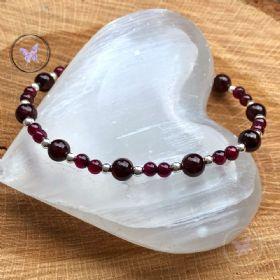 Garnet & Silver Bracelet
